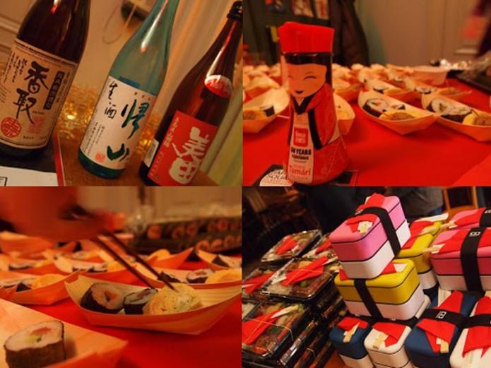 Goden-combo-van-sake-en-sushi